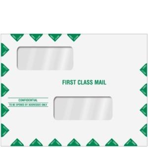 Double window tax return envelope 10 x 13 landscape for 10 x 13 window envelope