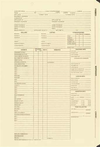 mortgage processing  status folder file ldf1 ja100