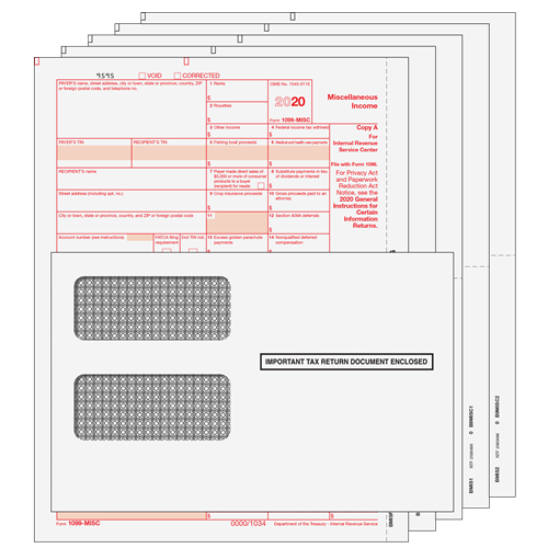 1099 Misc Kit 5pt Preprinted Forms With Moisture