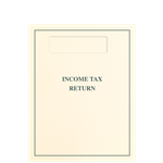 Tax Return Folder with Side-Staple Tabs and Official 1040 Window - Ivory & Green (TABFLDO10)