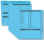 275B, Real Estate Folder, Right Panel List, Letter Size, Blue