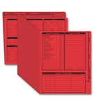Real Estate Folder, Right Panel List, Letter Size, Red Item#: 275R Size: 11 3/4 x 9 5/8""