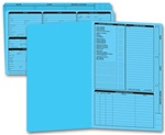 276B, Real Estate Folder, Right Panel List, Legal Size, Blue