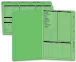 276G, Real Estate Folder, Right Panel List, Legal Size, Green