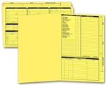 276Y, Real Estate Folder, Right Panel List, Legal Size, Yellow