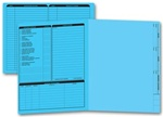 285B, Real Estate Folder, Left Panel List, Letter Size, Blue
