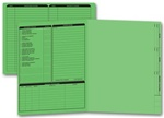 285G, Real Estate Folder, Left Panel List, Letter Size, Green