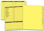 285Y, Real Estate Folder, Left Panel List, Letter Size, Yellow