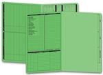286G, Real Estate Folder, Left Panel List, Legal Size, Green