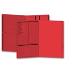Real Estate Folder, Left Panel List, Legal Size, Red Item#: 286R Size: 14 3/4 x 9 3/4""