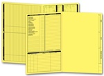 286Y, Real Estate Folder, Left Panel List, Legal Size, Yellow