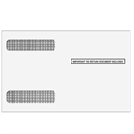 W-2 Double Window Envelope 4up Ver. 2 - Self-Seal (4356S)