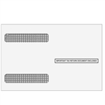 W-2 Double Window Envelope 4up Ver. 2 - Self-Seal (4DOWNENVS05)