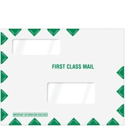 "Double Window Tax Organizer Envelope 11-1/2"" x 9"" (landscape) Peel-and-Close (80344PS)"