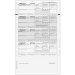 4up Preprinted W-2 Forms - Ver. 2 - Horizontal (80483)