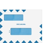 "Double Window ""First Class Mail"" Envelope 12"" x 9-1/2"" (landscape) Peel-and-Close (80783PS)"