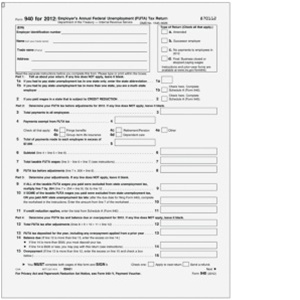 940 Form - Federal Unemployment Tax (FUTA) - pg1 (B940105)