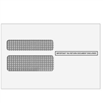 W-2 Double Window Envelope 2up - Moisture Seal (DWENV05)