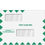 "Double Window Tax Return Envelope 10"" x 13"" (landscape) Peel & Close (ENV201PS)"