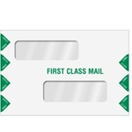 "Double Window Tax Return Envelope 9"" x 6"" (landscape) - Peel-and-Close (ENV300PS)"