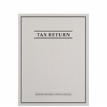 Tax Return Folder with Top-Staple Tab and Classic Border Design (FL45XX)