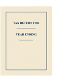 Tax Return Folder with Border (FOLDER)