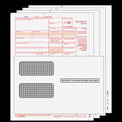1099 Misc Kit 4pt Preprinted Forms With Moisture Seal Envelopes