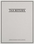 Tax Return Folder with Pockets and Classic Border Design (PT44XX)