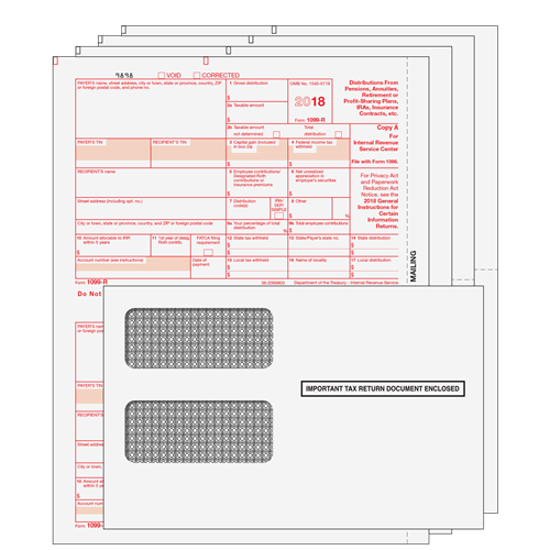 1099 R Kit 4pt Preprinted Forms With Self Seal Envelopes Rs4e