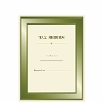 Green Designer Tax Return Folder (TAXCVR110)