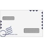 W-2/1099 Double Window Envelopes - Universal - Self Seal (UNIE)