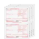 W-2 Set 4pt - Preprinted Traditional 2up (W2TRADS405)