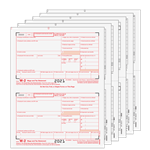 W-2 Set - 2up Preprinted - 6 part (W2TRADS605)