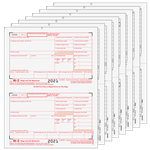 W-2 Set 8pt - Preprinted Traditional 2up (W2TRADS805)